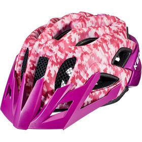 KED Status Helmet Kids camouflage pink/violet